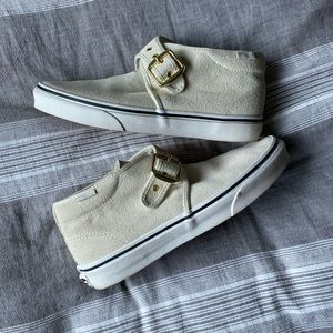 Vans Off White Buckle Shoes